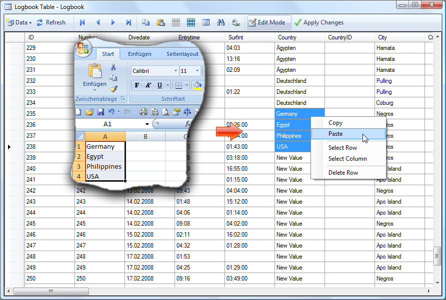 pdf table copy to excel