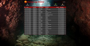 Diving Log Online cave theme